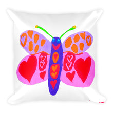 Ellie's Butterfly Square Pillow