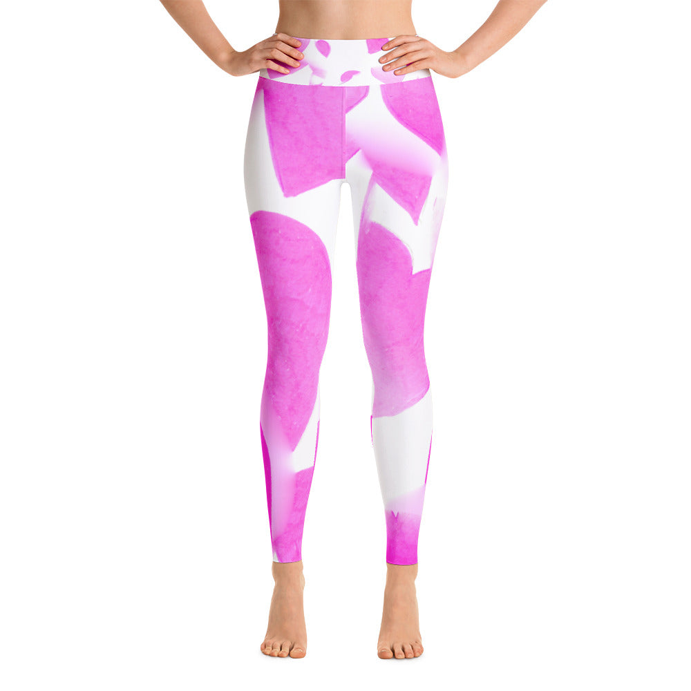 Pink Hearts • Yoga Leggings