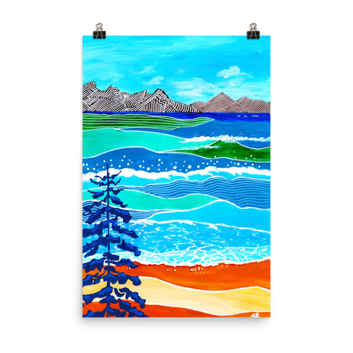 Mountains Meeting the Beach • Art Print