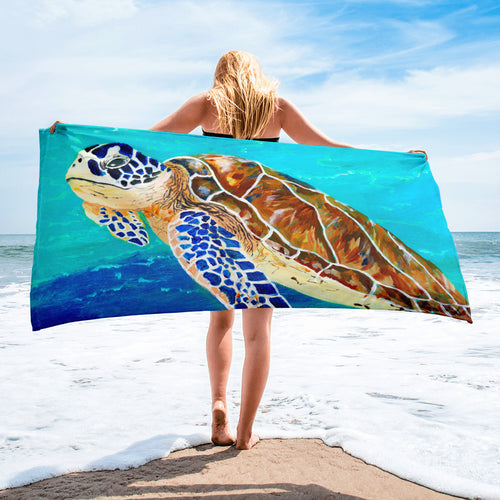Brown Sea Turtle • Towel