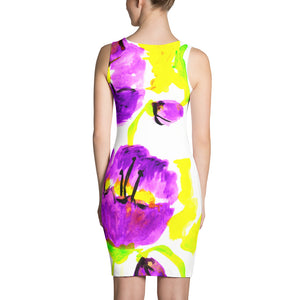 Purple Poppies Dress