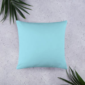 Island Pines Pink Sky • Basic Pillow back 22 x 22 in