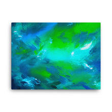 Blue green abstract canvas print 18 x 24 inches