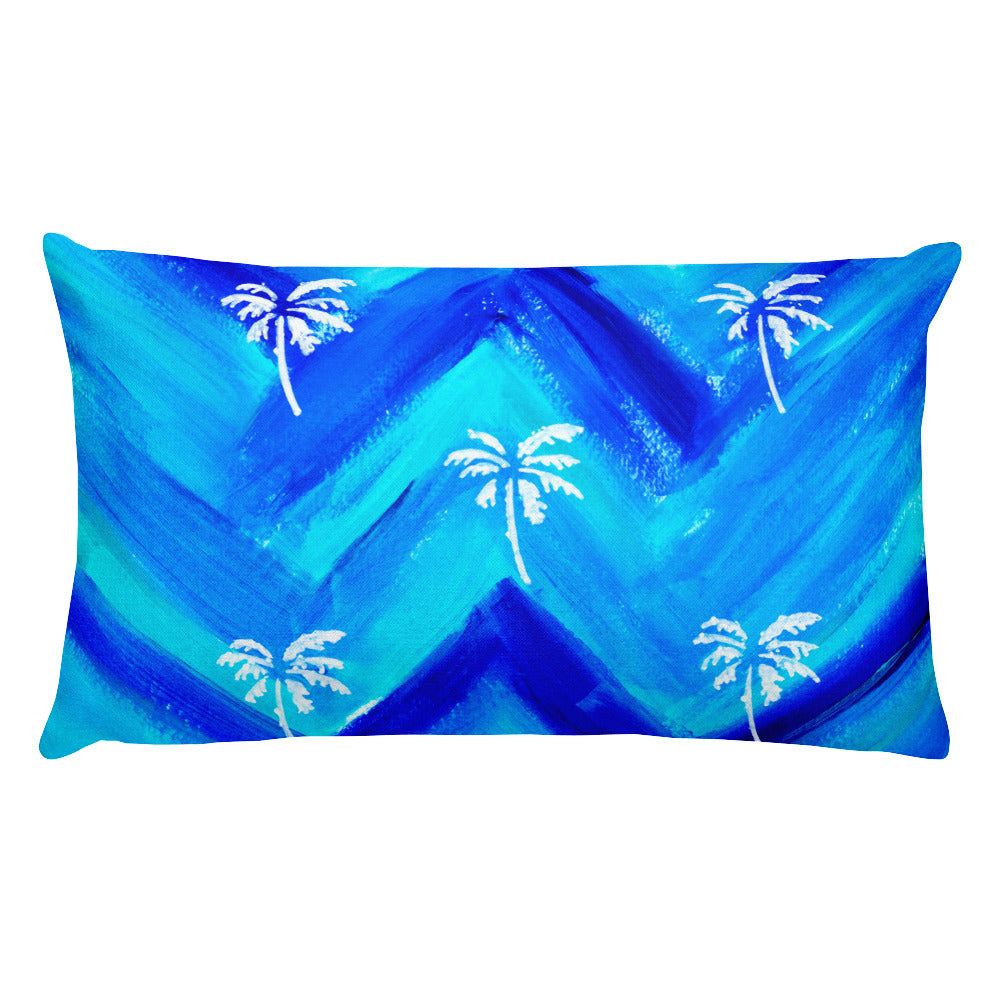Palm Tree Pattern Rectangular Pillow