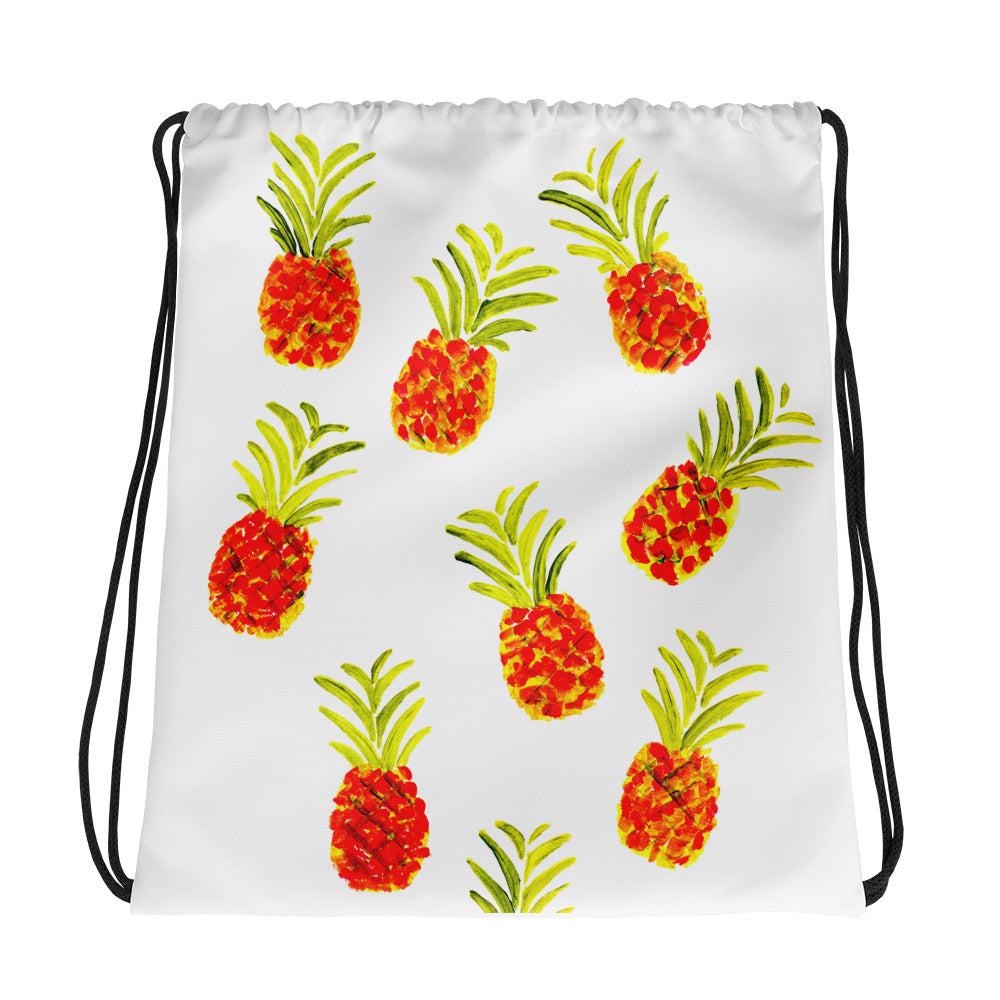 Pineapples Drawstring Bag