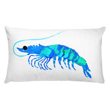 Blue Prawn Rectangular Pillow