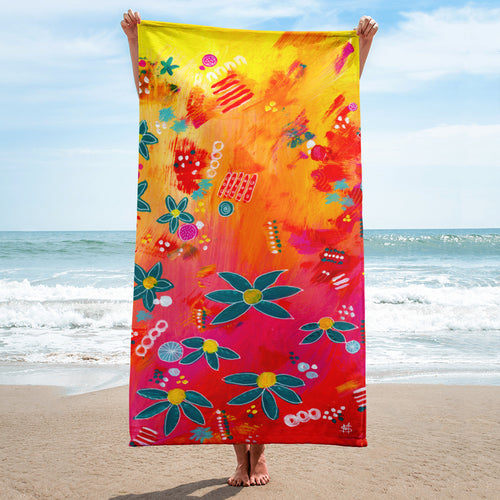 Yellow Floral Abstract • Towel