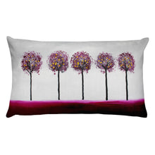 Maroon Trees • Rectangular Pillow