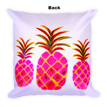 Pineapple Pink • Square Pillow