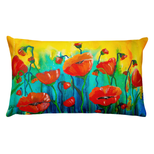 Poppies • Rectangle Pillow