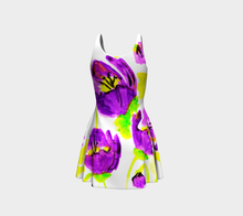 Purple Poppies Flared Dress