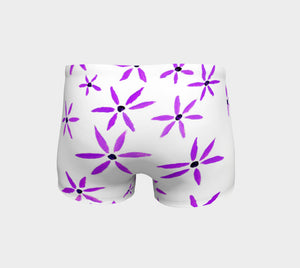 Purple Star Flower Shorts