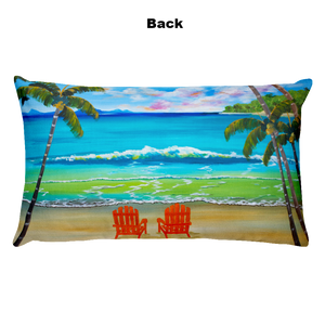 Under the Palm Trees • Rectangle Pillow