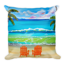 Under the Palm Trees • Square Pillow
