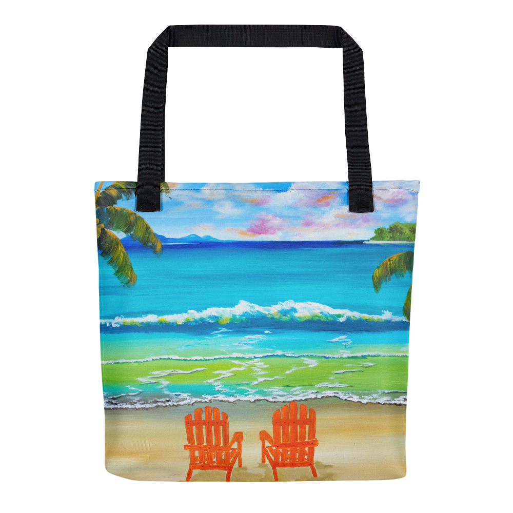 Under the Palm Trees • Tote Bag