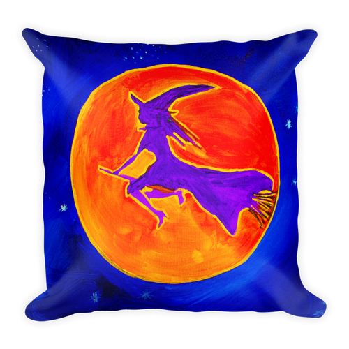 Witchy Moon • Square Pillow