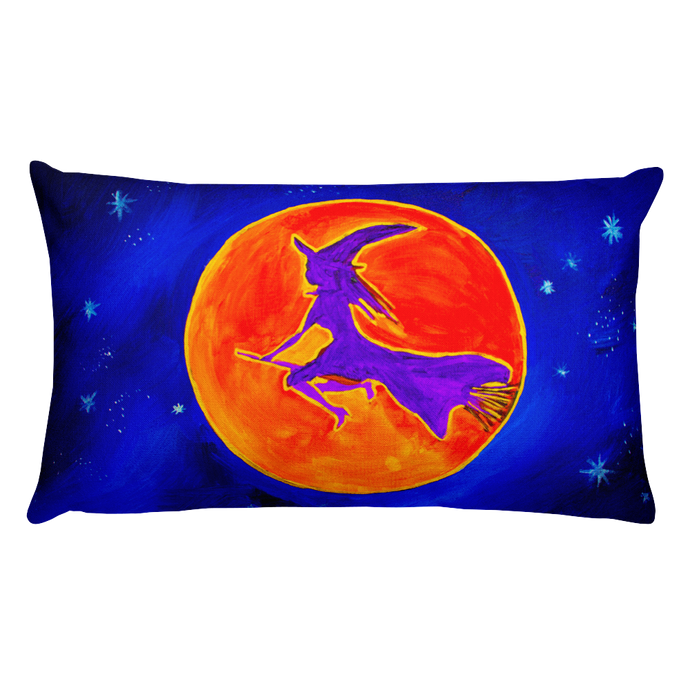 Witchy Moon • Rectangle Pillow