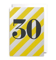 30th Birthday Gift Card