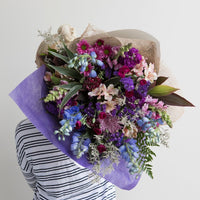Bouquet Cromwell Fresh Flowers Blue and Purple