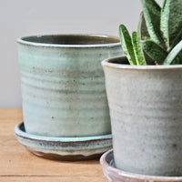 Southland made Ceramic Pot & Saucer