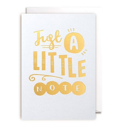 Just A Little Note Gift Card