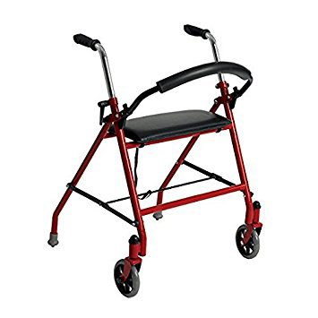 2 Wheel Rollator drive Red Folding Front Wheel - astoreformom.com