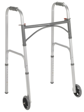 Folding Walker Adult 350 lbs. Weight Capacity 32 to 39 Inch Height - astoreformom.com