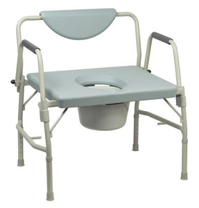 Commode Chair McKesson Drop Arm Steel Frame Padded Back 17.5 to 22 Inch - astoreformom.com