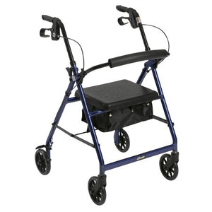4 Wheel Rollator McKesson 32 to 37 Inch Blue Folding Aluminum 32 to 37 Inch - astoreformom.com
