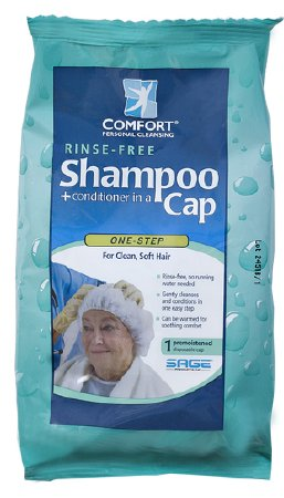 Shampoo Cap Comfort Bath® Individual Packet Clean Scent (1 Shower Cap) - astoreformom.com
