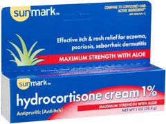 Itch Relief sunmark® 1% Strength Cream 1 oz. Tube - astoreformom.com