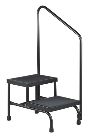McKesson Step Stool Bariatric 2-Step Powder Coated Steel 9 Inch and 16 Inch - astoreformom.com