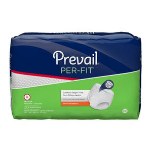 "80 Count (Pull On) - Adult Absorbent Underwear Prevail® PER FIT® Pull On Medium 34"" to 46"" Waist Disposable Moderate Absorbency - astoreformom.com"