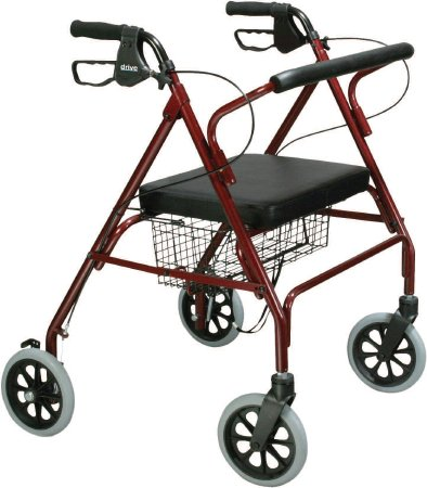 Bariatric 4 Wheel Rollator Go-Lite Red Oversized Steel (Max Weight 500lbs.) - astoreformom.com