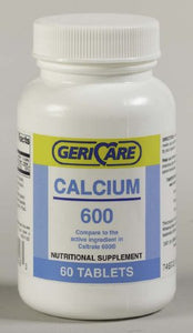 Calcium Supplement Geri-Care 600 mg Strength Caplet 60 per Bottle - astoreformom.com