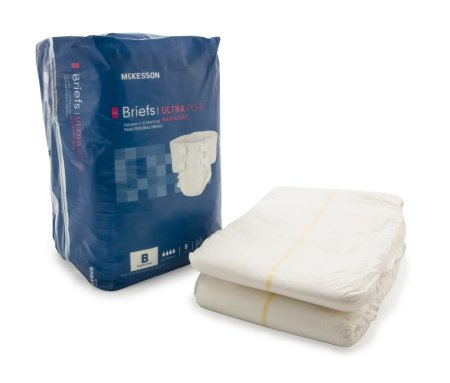"32 COUNT (Brief) - Adult Incontinent Brief McKesson Ultra Plus Bariatric Tab Closure 3XLarge Up to 95"" Waist - Disposable Heavy Absorbency - astoreformom.com"