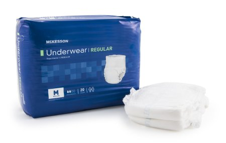 "80 COUNT (Pull On) - Adult Absorbent Underwear McKesson Regular Pull On Medium 34""-44"" Waist -Disposable Moderate Absorbency - astoreformom.com"