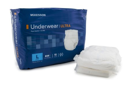 "72 COUNT (Pull On) - Adult Absorbent Underwear McKesson Ultra Pull On Large 44""-58"" Waist - Disposable Heavy Absorbency - astoreformom.com"