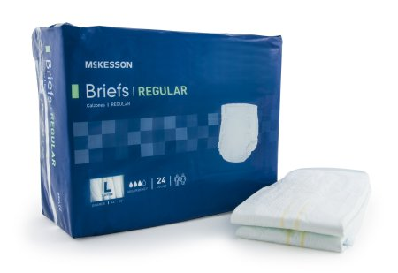 "72 COUNT (Brief) - Adult Incontinent Brief McKesson Regular Tab Closure Large 44""-58"" Waist - Disposable Moderate Absorbency - astoreformom.com"