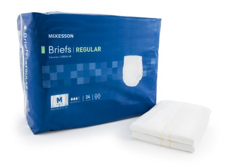 "96 COUNT (Brief) - Adult Incontinent Brief McKesson Regular Tab Closure Medium 32""-44"" Waist Disposable Moderate Absorbency - astoreformom.com"