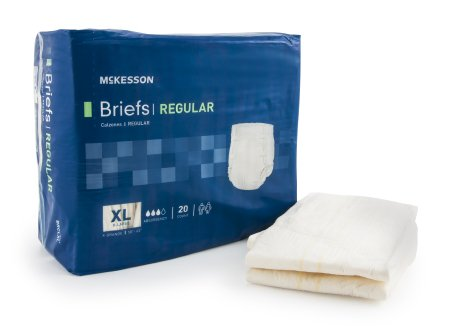 "60 COUNT (Brief) - Adult Incontinent Brief McKesson Regular Tab Closure XLarge 58""-63"" Waist Disposable Moderate Absorbency - astoreformom.com"