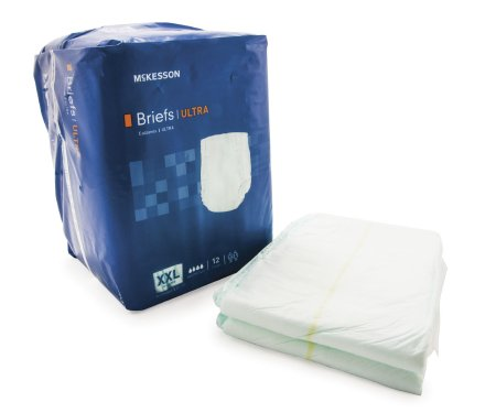 "48 COUNT (Brief) - Adult Incontinent Brief McKesson Ultra Tab Closure 2XLarge 63""-69"" Waist - Disposable Heavy Absorbency - astoreformom.com"