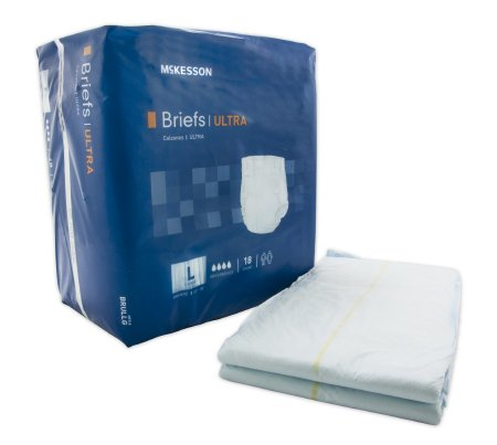 "72 COUNT (Brief) - Adult Incontinent Brief McKesson Ultra Tab Closure Large 45""-58"" Waist - Disposable Heavy Absorbency - astoreformom.com"