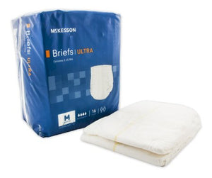 "96 COUNT (Brief) - Adult Incontinent Brief McKesson Ultra Tab Closure Medium 32""-44"" Waist- Disposable Heavy Absorbency - astoreformom.com"