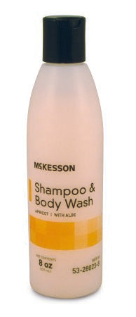 Shampoo and Body Wash McKesson 8 oz. Squeeze Bottle Apricot Scent - astoreformom.com