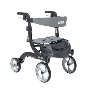 4 Wheel Rollator Nitro Black Hemi Height Aluminum - astoreformom.com