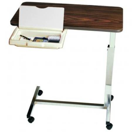 Overbed Table with Vanity With Vanity Non-Tilt Automatic Spring Assisted 28 to 45 Inch - astoreformom.com
