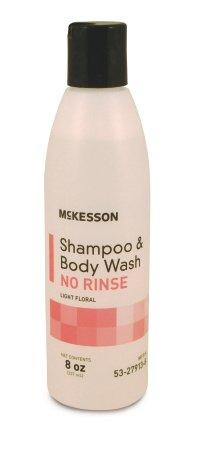 Rinse-Free Shampoo and Body Wash McKesson 8 oz. Squeeze Bottle Light Floral Scent - astoreformom.com