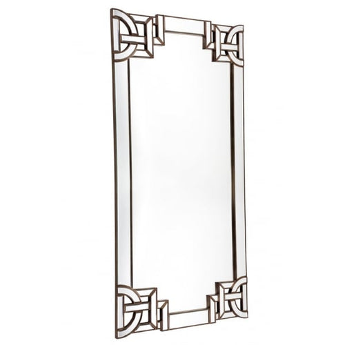 Antique Beveled Floor Mirror, Art Deco - 99x203cm