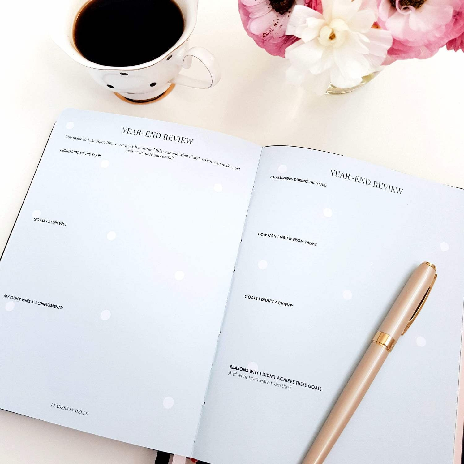Leaders in Heels Planner – Phenomenal Woman, TAN